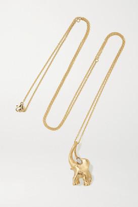 OLE LYNGGAARD COPENHAGEN Elephant 18-karat Gold Diamond Necklace