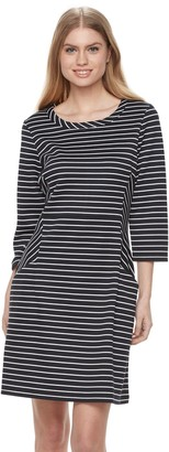 Nina Leonard Women's Striped Shift Dress