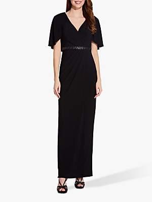 Adrianna Papell Draped Jersey Maxi Dress