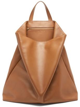 Tsatsas Fluke Grained-leather Tote Bag - Brown