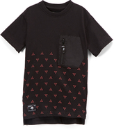 Lrg Black Geometric Pocket-Front Tee - Boys