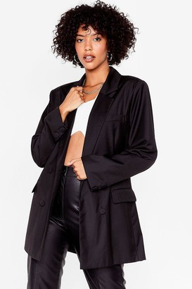 Nasty Gal Womens Not Our Business Oversized Blazer - Black
