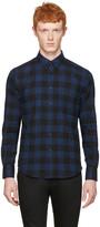 Naked & Famous Denim Blue Check Regular Shirt