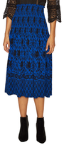 Plenty by Tracy Reese Printed Smocked Waist A Line Skirt