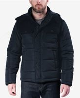 Hawke & Co. Outfitter Men's Quilted Mixed-Media Puffer Jacket