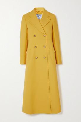 Prada Double-breasted Wool Coat - Yellow