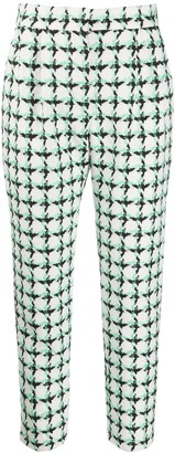 MSGM Tweed Check Cropped Trousers