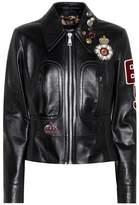 Dolce & Gabbana Embellished leather jacket