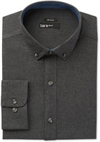 Bar III Men's Wear Me Out Slim-Fit Charcoal Flannel Dress Shirt, Only at Macy's