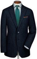 Charles Tyrwhitt Slim Fit Blue Tweed Wool Jacket Size 36