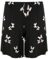 Yours Clothing YoursClothing Plus Size Womens Butterfly Print Jersey Pull On Shorts Bottoms