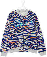 Kenzo tiger print bomber jacket - kids - Cotton/Polyester - 14 yrs