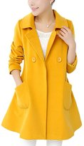 Lettre d'amour Women's Elegant Simple Trenchcoats With Pockets XL