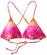 Mudd® tie-dye triangle bikini top