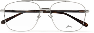 Brioni Aviator-Style Gold-Tone And Tortoiseshell Acetate Optical Glasses
