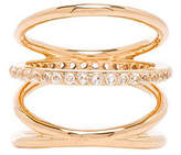 Elizabeth and James Mondrian Ring in Metallic Gold. - size 6 (also in 7)