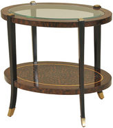 Maitland-Smith Leopard Oval Side Table, Antiqued Brown
