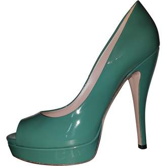 Gucci Green Leather Heels