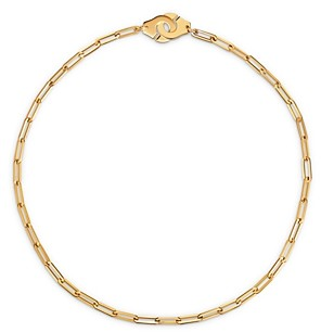 Dinh Van 18K Yellow Gold Menottes Chain Necklace, 17.3
