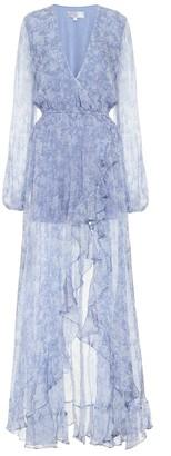 Caroline Constas Liv floral silk-chiffon wrap dress