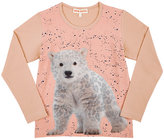 Anne Kurris Photo-Real Polar-Bear Long-Sleeve T-Shirt-PINK