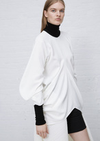 J.W.Anderson white circle drape crepe turtleneck