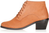 Topshop ABLE Pointy Lace-Up Boots