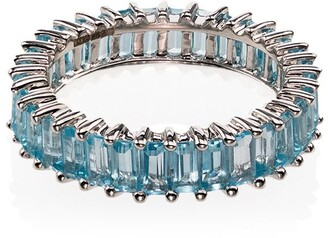 Dana Rebecca Designs 14kt White Gold Blue Topaz Ring