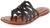 Bernardo Magnolia Leather Slide Sandal, Black