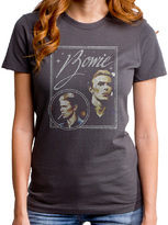 Goodie Two Sleeves Charcoal David Bowie Vision Tee - Juniors