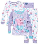 Peppa Pig 4-pc. Pajama Set Girls
