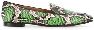 Aquazzura Purist snakeskin-effect leather loafers
