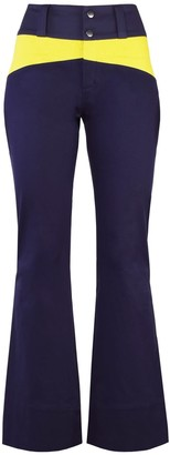 Blonde Gone Rogue Rejoice Sustainable Flared Trousers - Navy