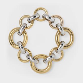 Laura Lombardi Calle Bracelet In Bicolor Brass