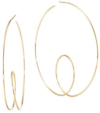 Lana 14K Yellow Gold Wire Loop Hoops/2.5""