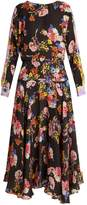 Preen by Thornton Bregazzi Imogen floral-print hammered-silk dress