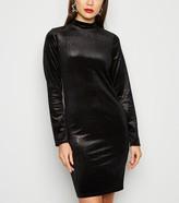 New Look Velvet Faux Snake Glitter Bodycon Dress