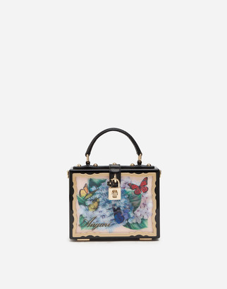 Dolce & Gabbana Postcard Dolce Box Bag In Lacquered Wood
