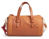 ED Ellen Degeneres Mini Carml Leather Barrel Bag - Brown