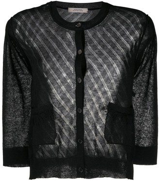Dorothee Schumacher Transparent Lightweight Knit Cardigan