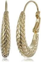 """Cole Haan Metal Basic"""" Large Basket Weave Oval Hoop Earrings"""