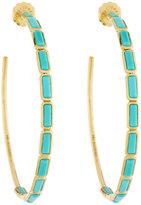 Ippolita 18K Gold Rock Candy Gelato #4 Hoop Earrings in Turquoise