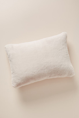 """Anthropologie Sophie Faux Fur Pillow By in Orange Size 14"""" X 20"""""""