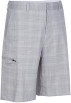 Greg Norman for Tasso Elba Men's Tech Plaid Golf Shorts