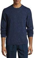 Etro Paisley Wool Crewneck Sweater, Blue
