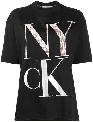 Calvin Klein Jeans logo print cotton T-shirt