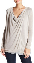 Three Dots Cheyanne Drape Front Cardigan