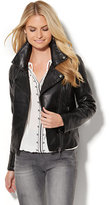 New York & Co. Faux-Leather Moto Jacket