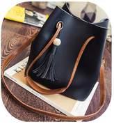 TOP SHOP BAG FTSUCQ Womens Bucket Tassels Totes Shoulder Messenger Bags Handbags Hobos Two Piece