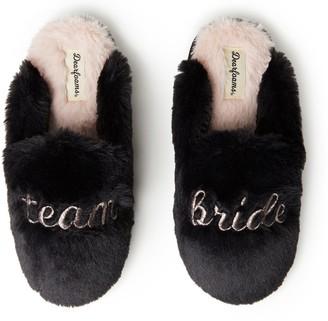 Dearfoams Women's Team Bride Scuff Slippers